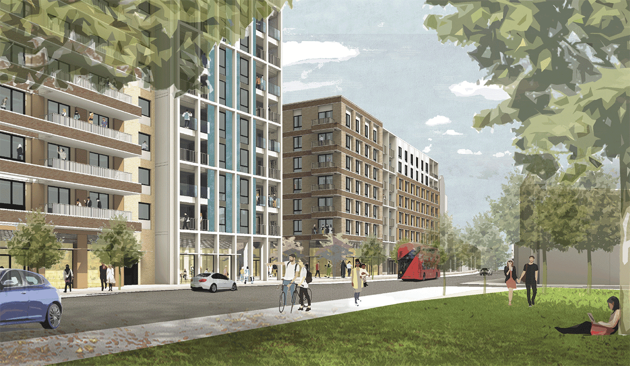 How the redeveloped Edmonton Green Shopping Centre would look from Fore Street