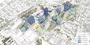 A map of the redevelopment plans for Edmonton Green