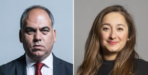 Enfield Southgate MP Bambos Charalambous (left) and Enfield North MP Feryal Clark (right)