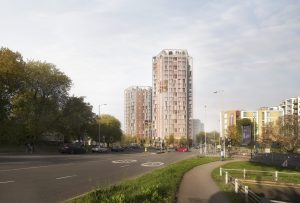 The vision for the new tower block in New Southgate (credit pH+)