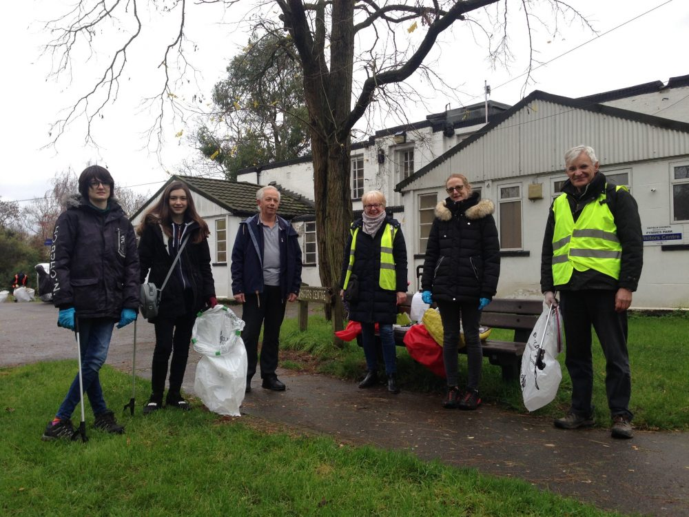 Volunteers from several local groups turned up to help out at Pymmes Park in Edmonton