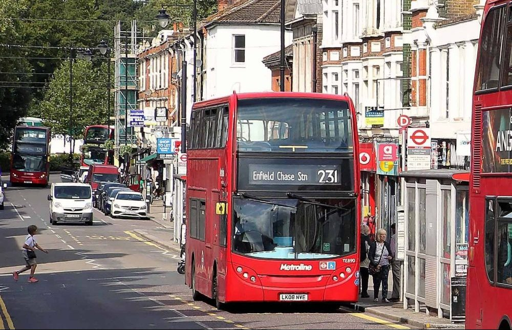 Buses in Enfield Town (credit Enfield Council)