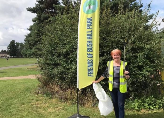Carole Stanley organises litter picks around Bush Hill Park