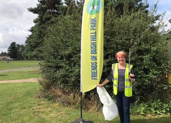 Carole Stanley organises litter picks around Bush Hill Park