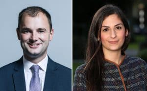 Luke Hall MP (left) and Nesil Caliskan (right)