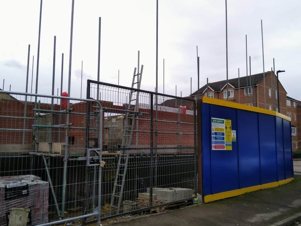 New homes being built in Linwood Crescent, Enfield