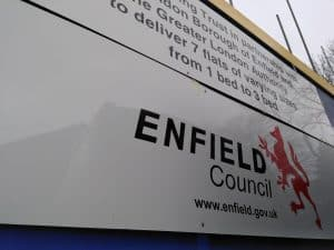 Housing being built by Enfield Council