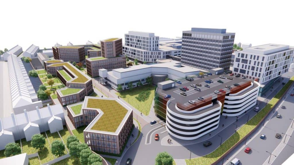 A vision for how the North Middlesex University Hospital site could look in 15 years after new housing and NHS facilities have been built