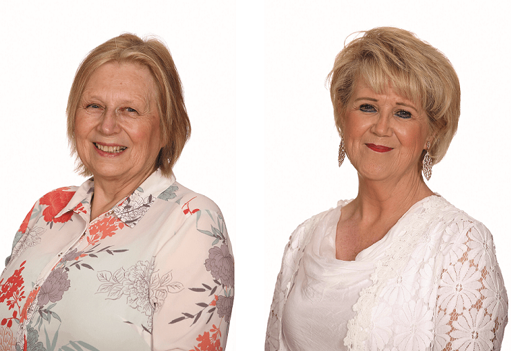 Councillors Anne Brown (left) and Bernadette Lappage (right)