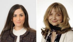 Labour group leader Nesil Caliskan (left) and Conservative group leader Joanne Laban (right) disagree over is to blame for a meeting being scheduled during the Jewish Sabbath