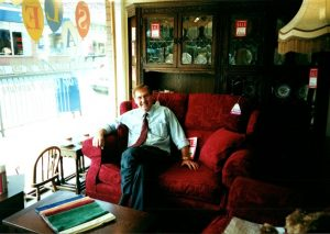 Ken Rolland inside the shop back in its heyday