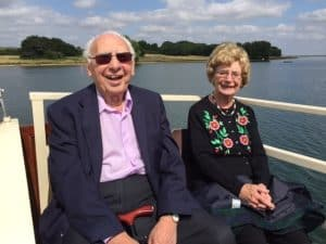Monty Meth (left) with wife Betty on a trip to Dorset with Enfield Over 50s Forum