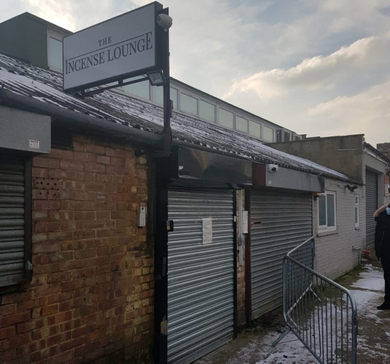 The Incense Lounge in Ponders End, where illegal parties were held during lockdown