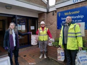 Pam's Pantry is based at Ponders End United Reformed Church and is led by Melanie Smith, pictured left