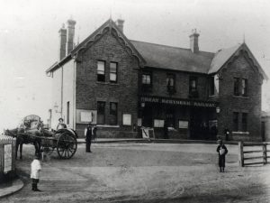 The original Great Northern Railway terminus station at Windmill Hill, Enfield, in 1898 (Enfield Local Studies Library and Archive)