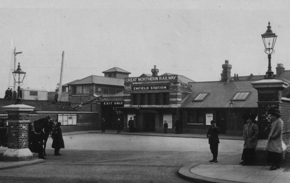The new Enfield Station (today's Enfield Chase) when first opened in 1910 (credit Enfield Local Studies Library and Archive)