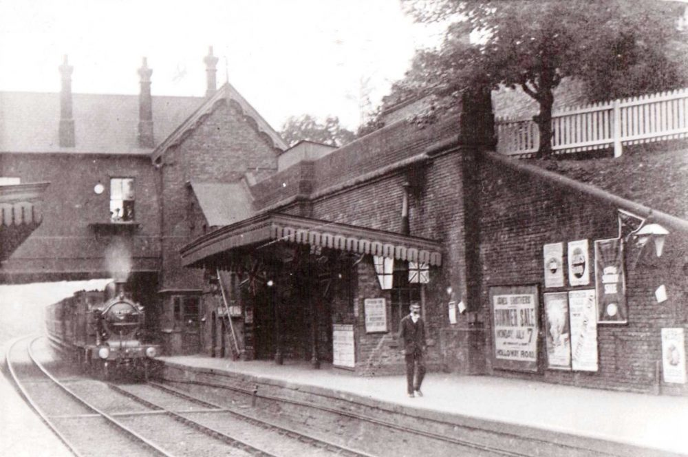 Winchmore Hill Station in 1886 (credit Enfield Local Studies Library and Archive)