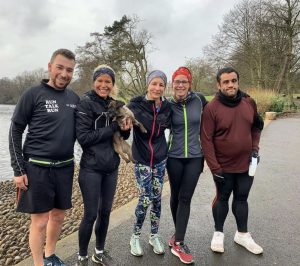 The Run Talk Run group pictured in Grovelands Park