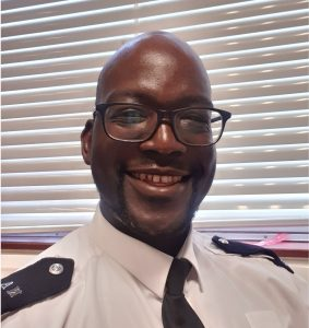 PC Simon Odong has been a police officer for 16 years