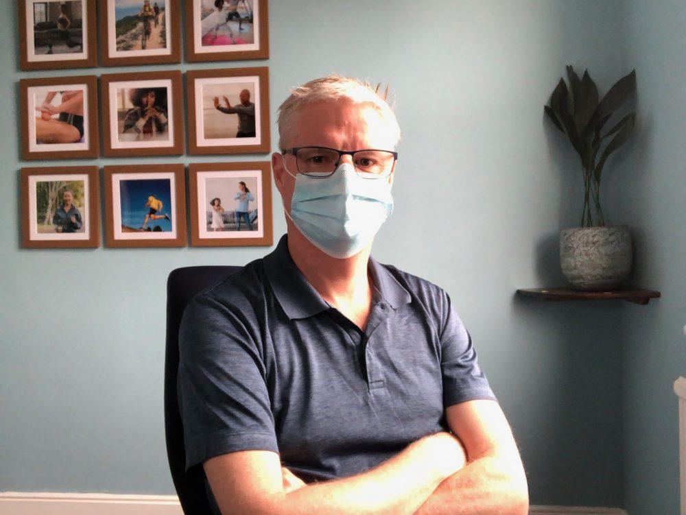 Steven Murdoch in his Palmers Green treatment room