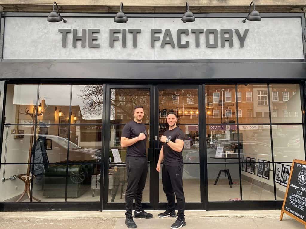Andreas and Chris Evangelou outside The Fit Factory in Cockfosters