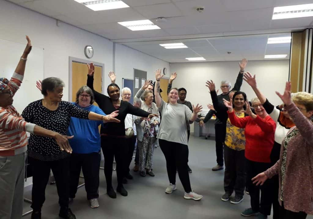 A pre-pandemic activity hosted by one of the patient participation groups at Forest Primary Care Centre