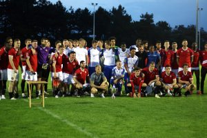 Enfield Town and FC United previously played for the Brian Lomax Trophy at the QE2 Stadium in 2019 (credit Phil Davison)