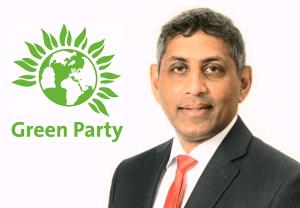 Enfield's Green Party councillor, Charith Gunawardena