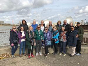 Enfield U3A members on a walk along the Thames Path in 2019