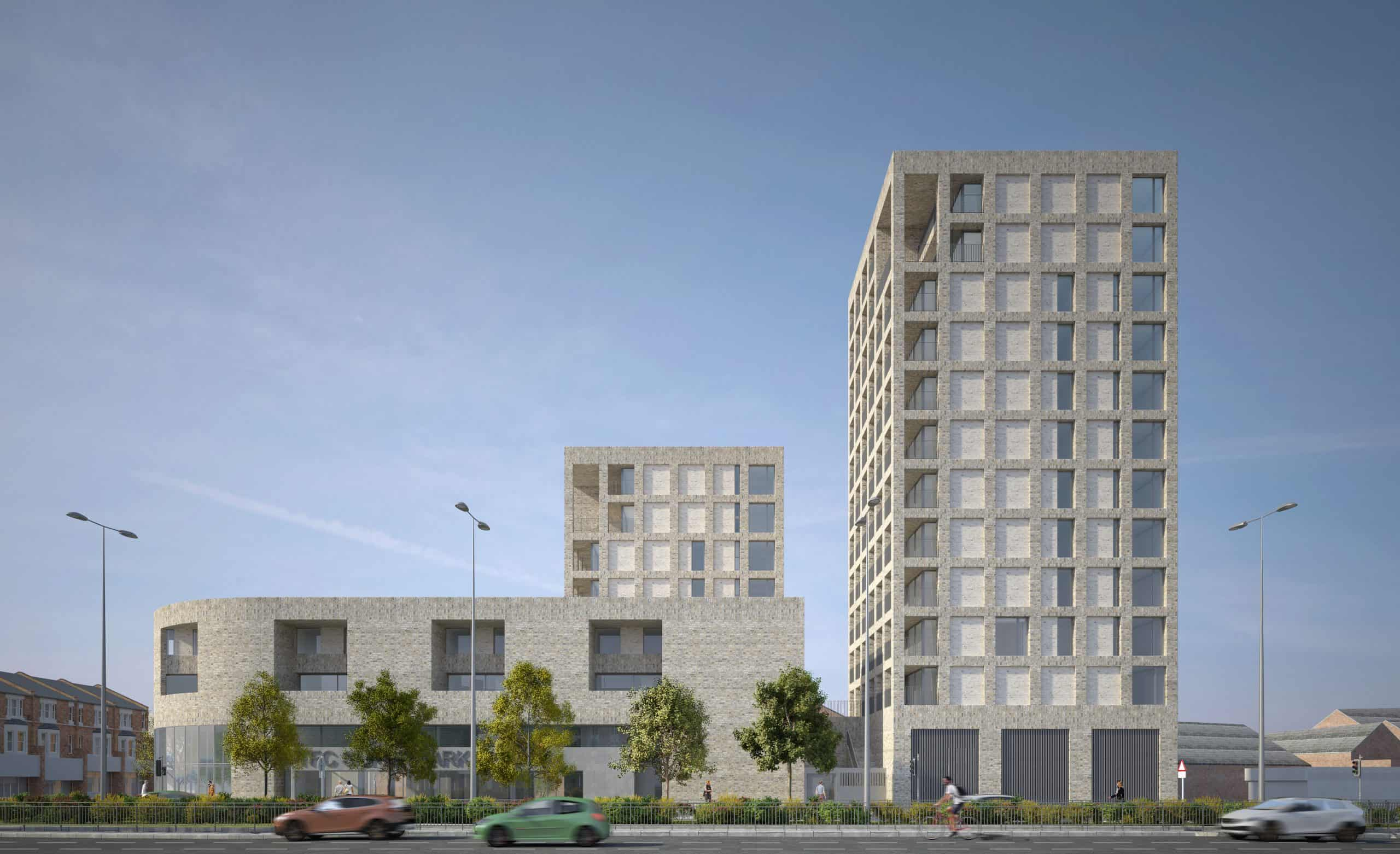 The design for the twelve-storey development on the corner of Green Lanes and the North Circular