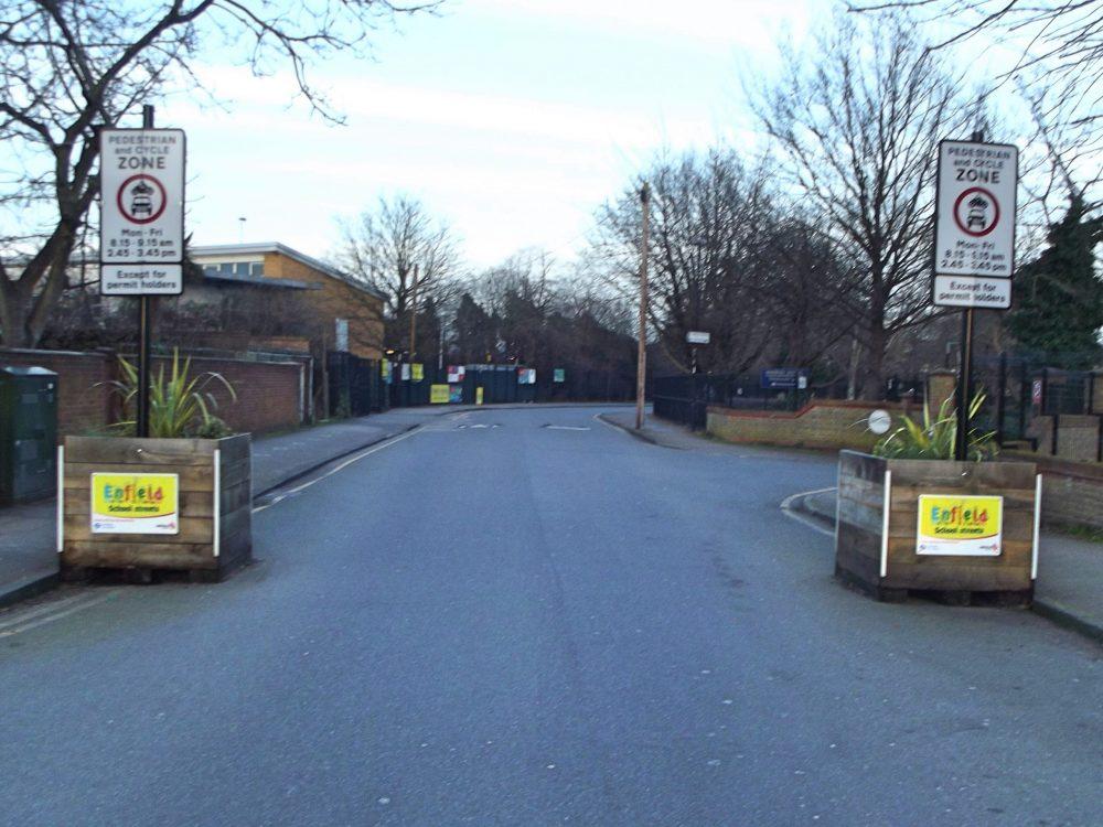 A 'school street' scheme outside Waverley Primary School