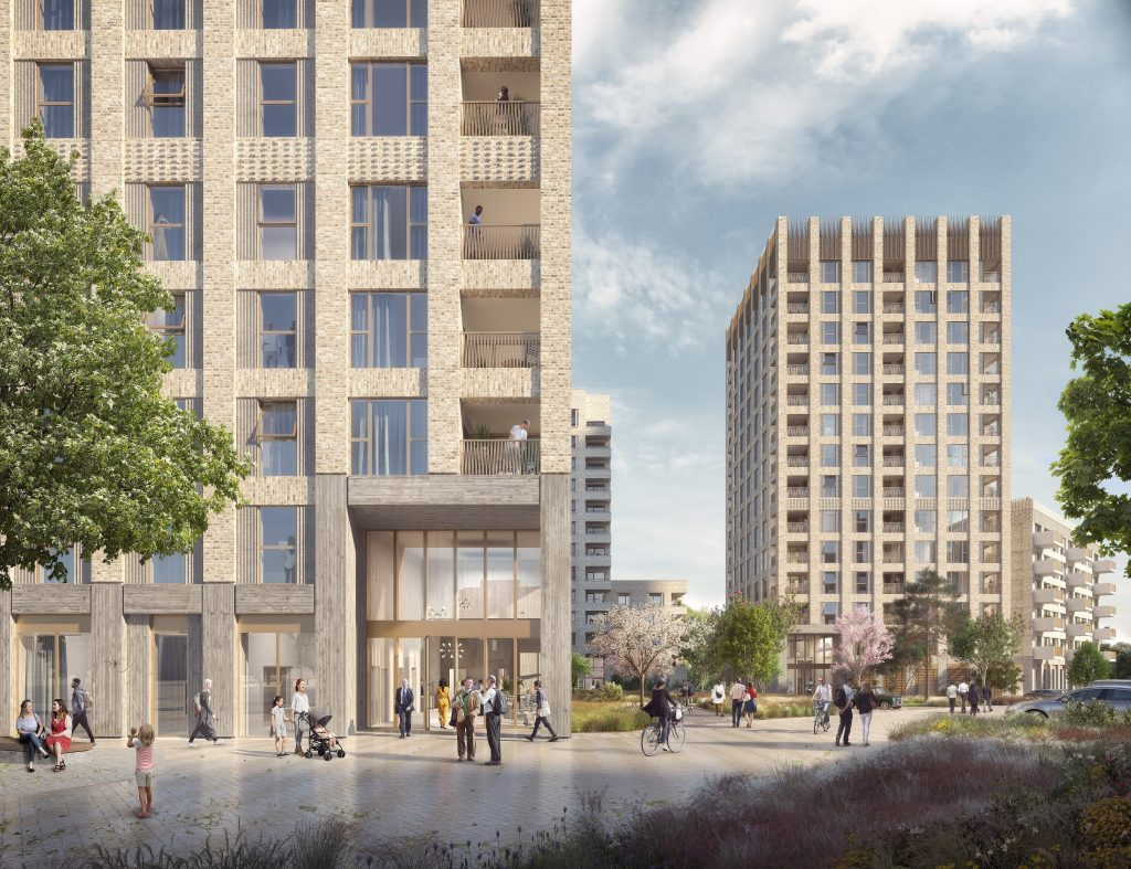 How the Cockfosters Station car parks scheme proposed by Connected Living London could look if built