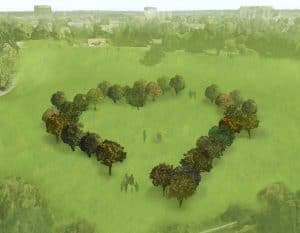 Joe Robinson's design for the Enfield Living Memorial in Town Park