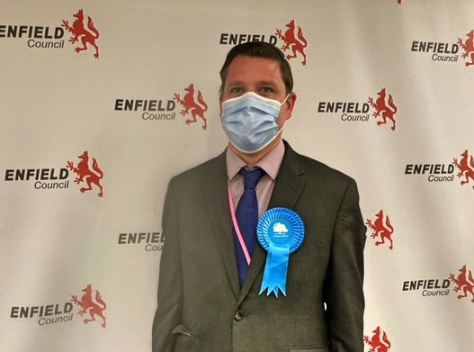 Peter Fallart, newly-elected Conservative councillor for Bush Hill Park