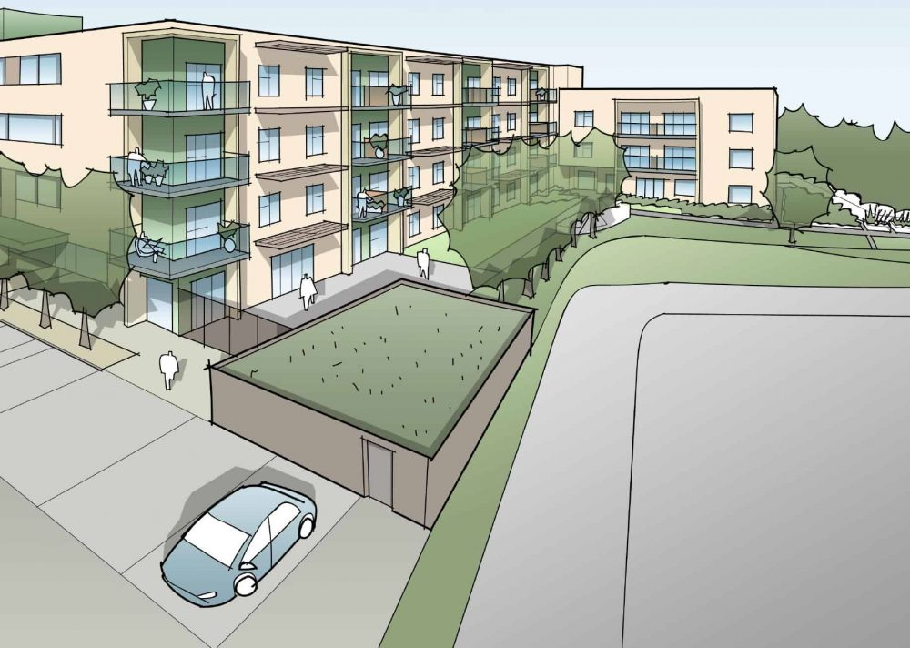 The original plans for Reardon Court Extra Care Facility approved by Enfield Council in May 2020 (credit Pick Everard)