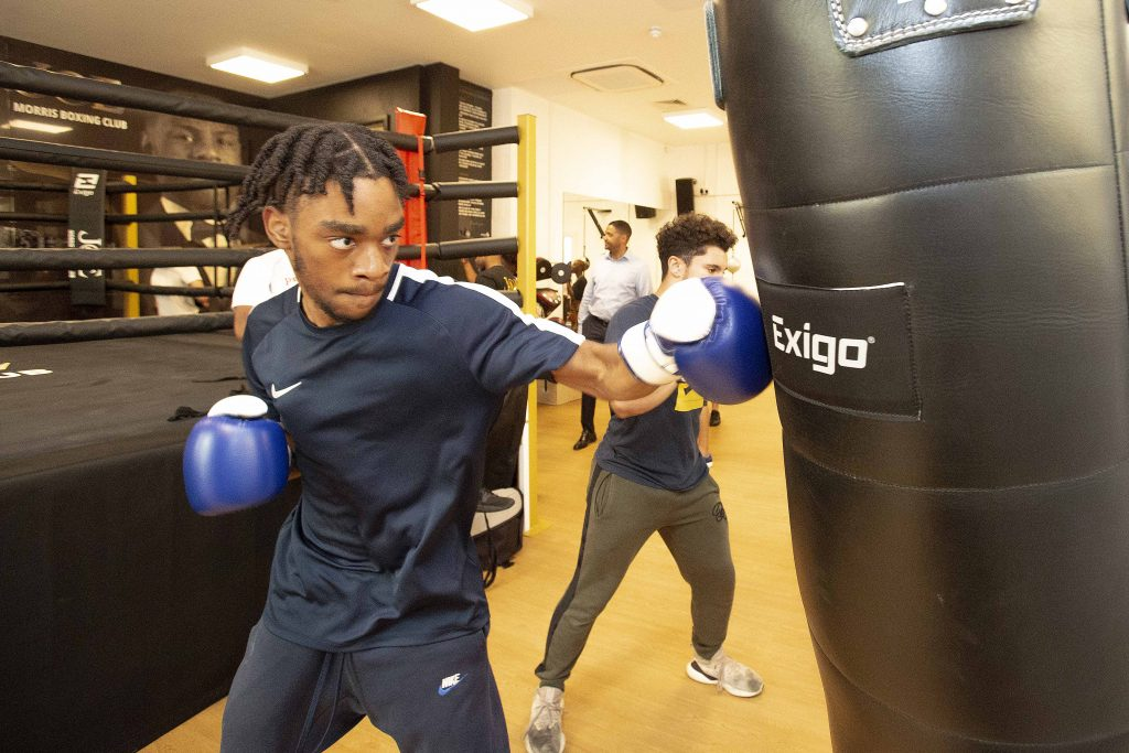 The new youth centre features a boxing gym (credit Enfield Council)