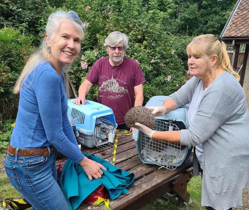 June Smitherman (pictured right) with volunteers at the animal sanctuary in Trent Park