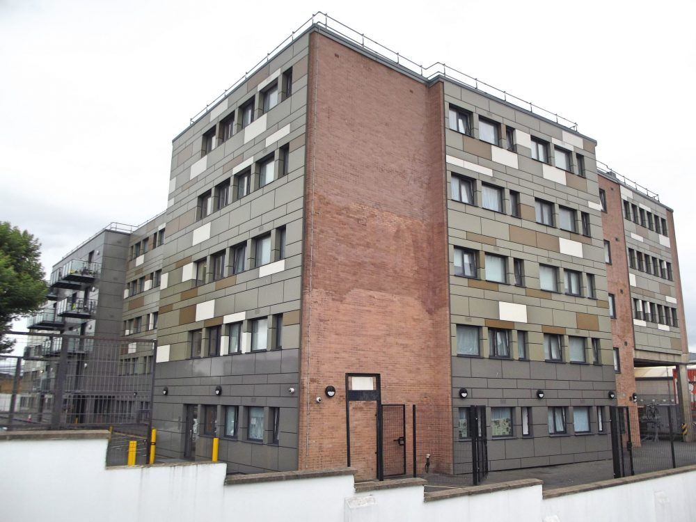 A former office building, Brickfield House in Southbury is used by Enfield Council to house hundreds of people in temporary accommodation