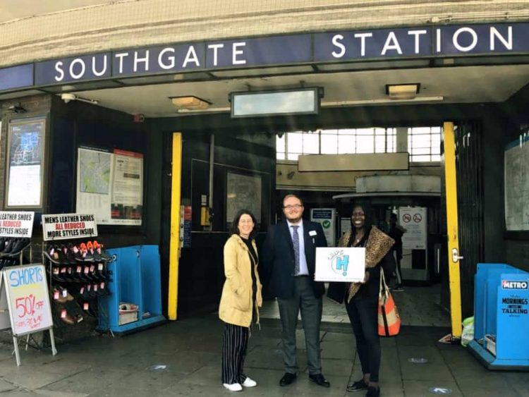 Pictured from left outside Southgate Station; Hannah Newton, station area manager, and Dionne John