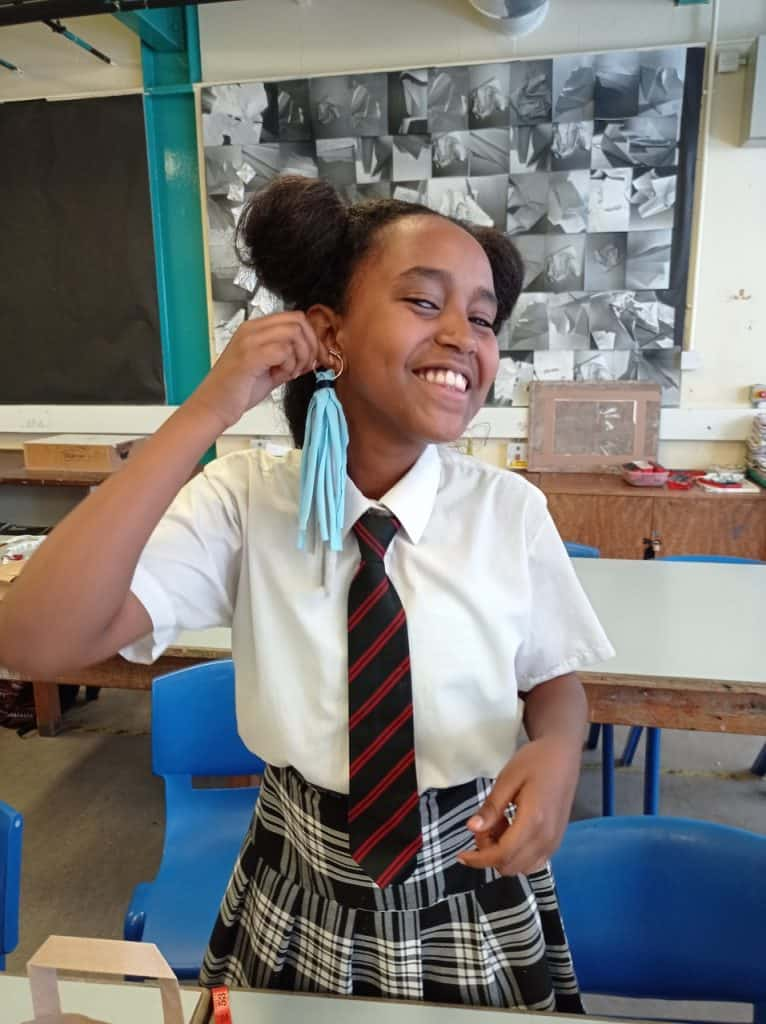Stitch! Crafts & Classes has been running fashion workshops with year eight students at Broomfield Secondary School in Palmers Green
