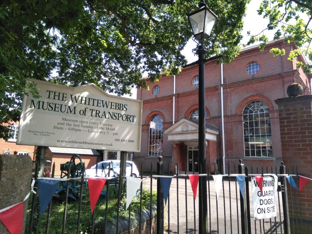 The Whitewebbs Museum of Transport is housed inside a disused Victorian pumping station purchased by Enfield and District Veteran Vehicle Trust in 1986