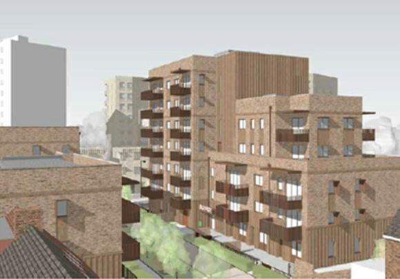 An image of the planned estate redevelopment (Enfield Council)