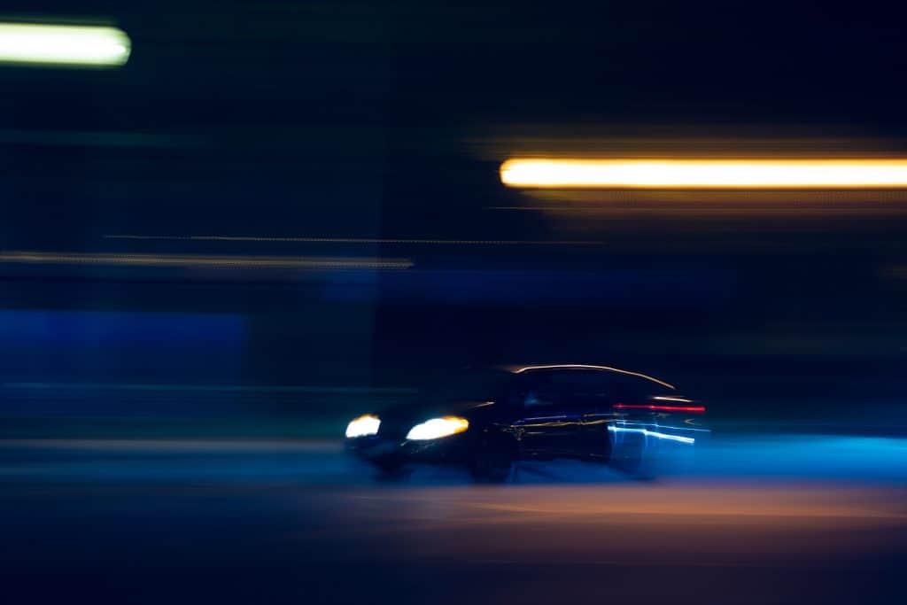 Speeding car (credit Benjamin Lehman/Unsplash)