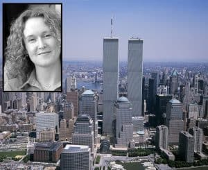 Sarah Redheffer (inset) was killed in the terrorist attack on the World Trade Center in New York on 11th September 2001