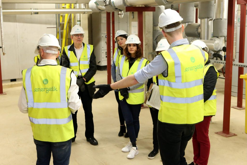 Visitors receive a tour of one of Energetik's energy centres