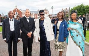 Members of Gospel Temple Apostolic Church attending the National Diversity Awards in Liverpool on 17th September